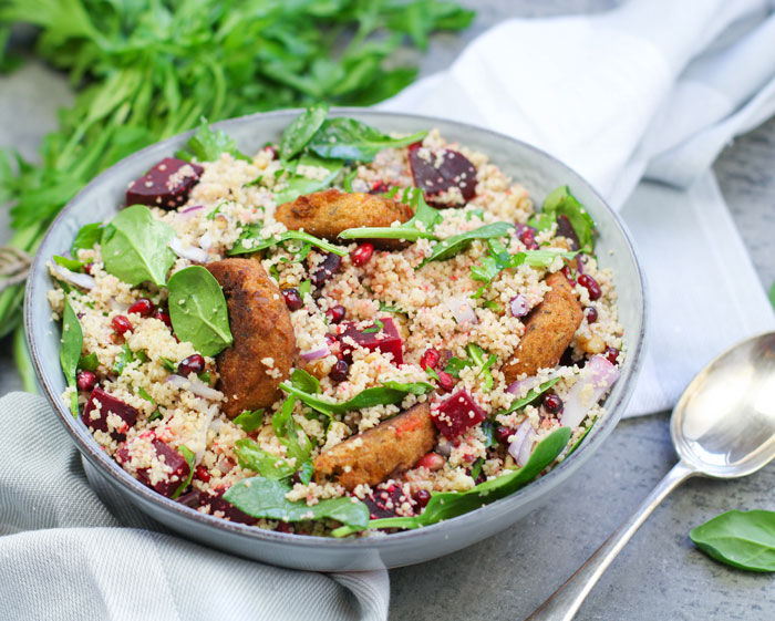 Beetroot & Pomegranate Cous Cous