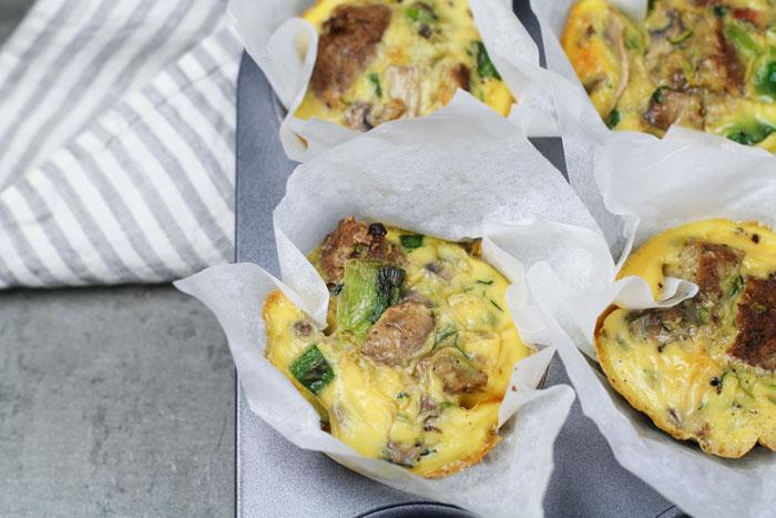 Vegetarian Breakfast Muffins