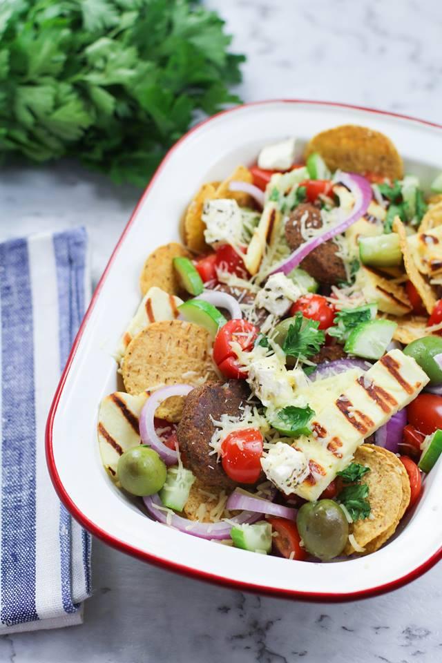 Greek Style Falafel Nachos