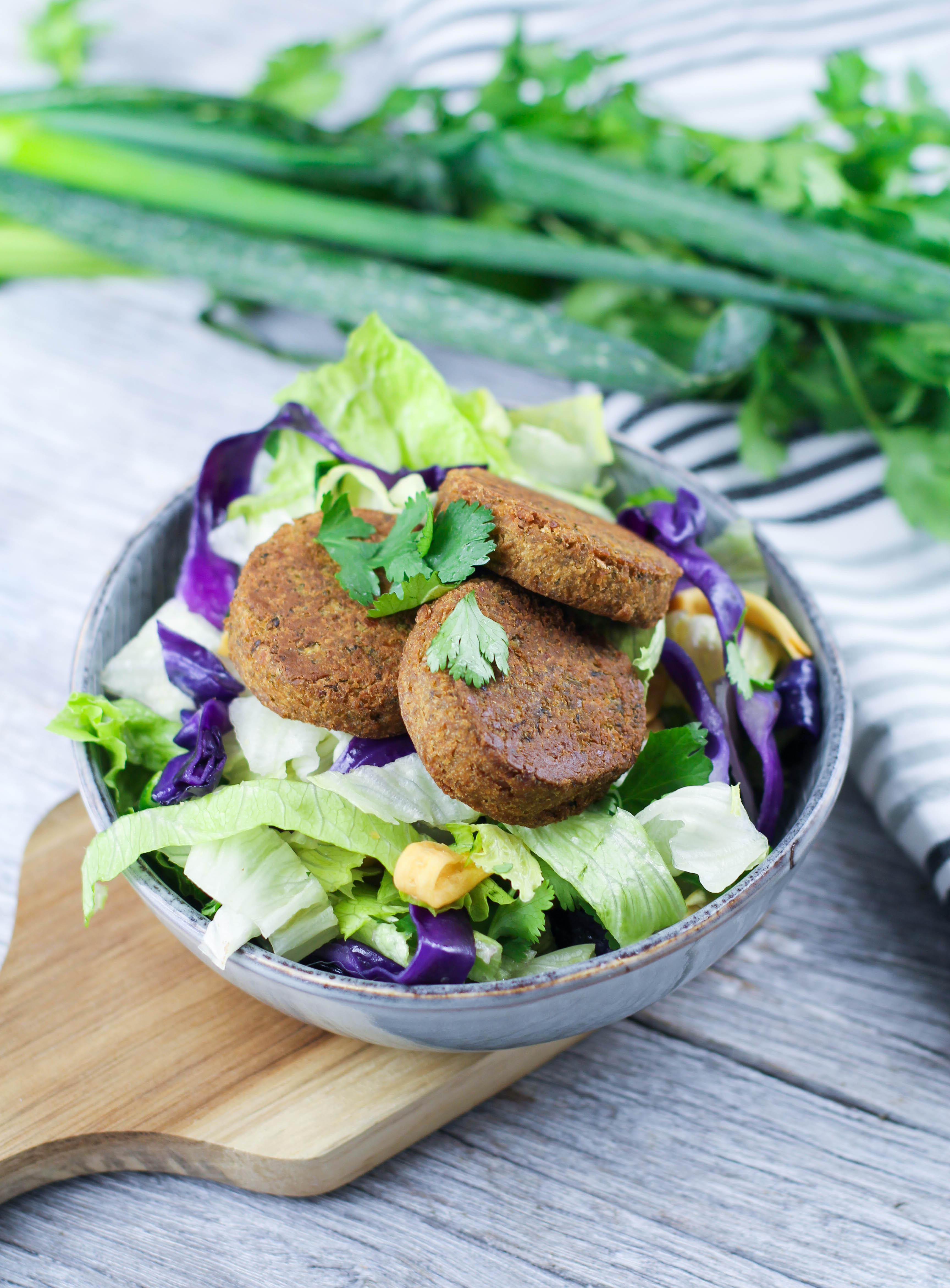 Crunchy Noodle & Falafel Salad