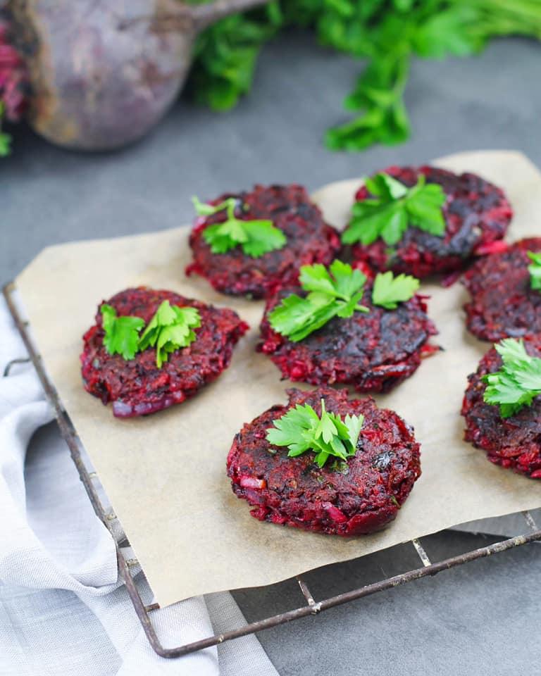Beetroot Veggie Fritters