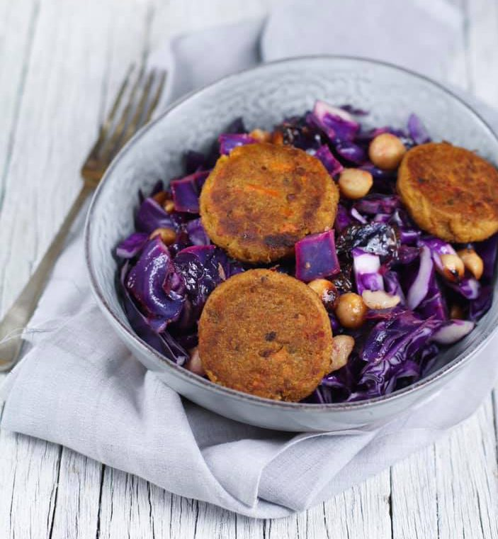 Purple Cabbage & Sweet Potato Salad