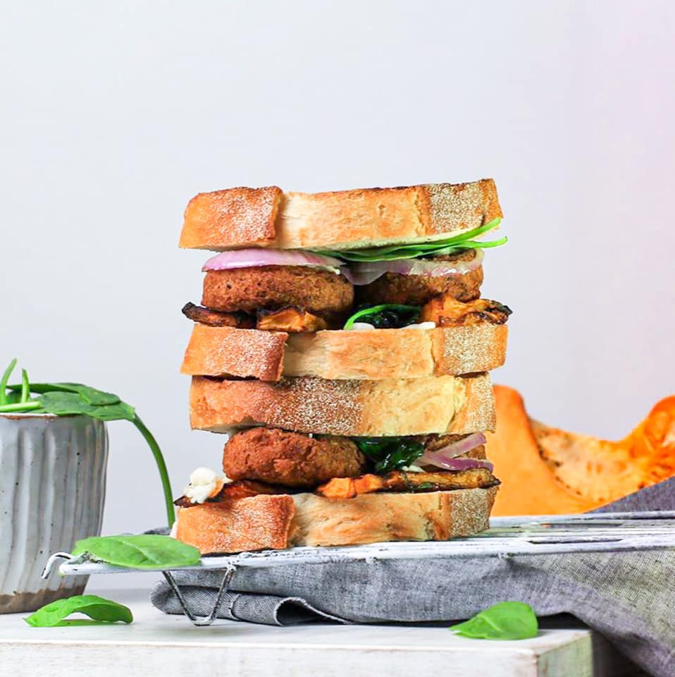 Pumpkin & Spicy Falafel Toasties