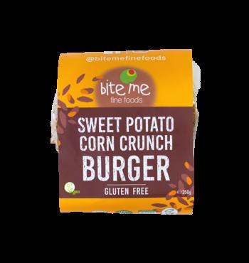 Organic Sweet Potato Corn Crunch Burger