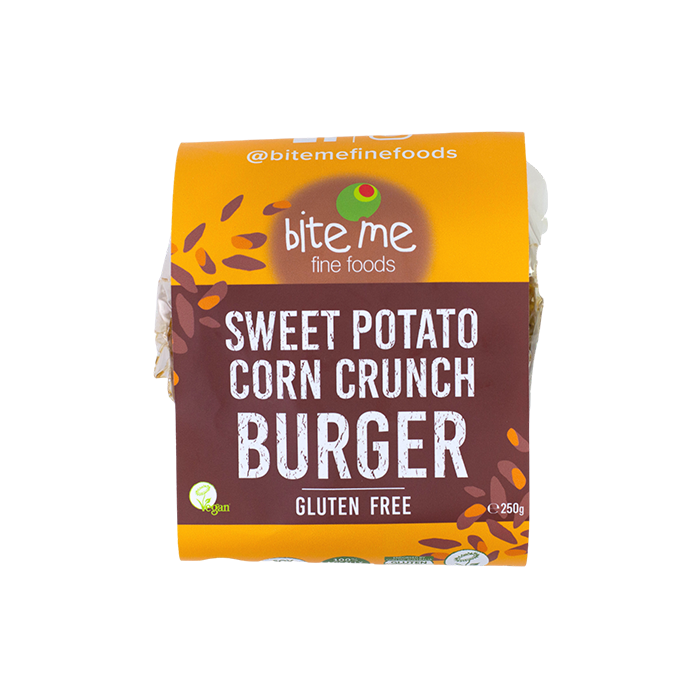 Organic Sweet Potato Corn Crunch Burger